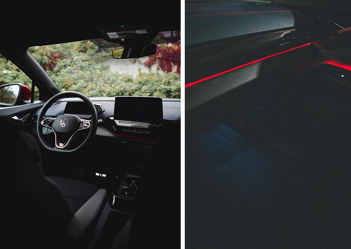 Volkswagen GTX punainen sisätilat