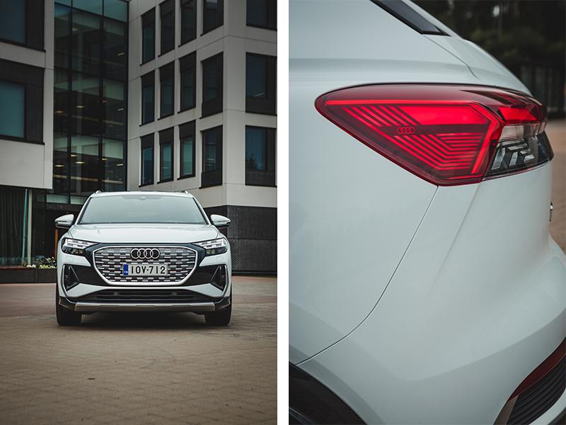 Audi Q4 valot ja edestä jklauto